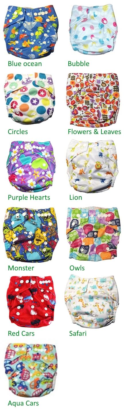 Eco reusable swim nappy variant overview